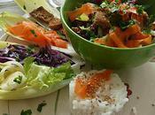 salade légumes gésiers canard sesame
