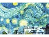 Gogh s'invite l'affiche prochain film Woody Allen Minuit Paris
