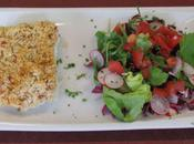 croute parmesan avec petite salade italienne