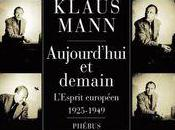 Aujourd'hui demain Klaus Mann