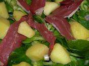 Salade mache magret fume