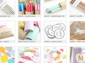 adorable site fournitures colorées