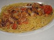 Spaghettis fruits mer, piment d'espelette