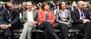 Parti Socialiste Aubry fait l'unanimité pour projet 2012 France