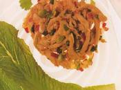 Salade poulet romaine deux oignons