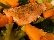 Salade saumon, orange brocoli