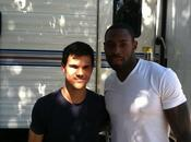 Pics Taylor Lautner with Steve Smith