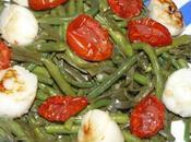 salade terre-mer deux haricots, tomates confites Saint-Jacques
