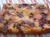 Gâteau pêches-carambars