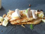 sébaste, crevettes grises, pomme terre, petits oignons primeurs
