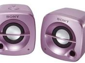 enceintes portables roses chez Sony