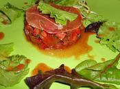 Tartare tomates rouge noire jambon bayonne