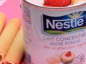 Crème super rapide lait concentré fraises présentée dans boite