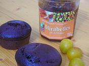 Muffins Cacao coeur Mirabelles