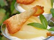Mousse chocolat blanc, poire verveine, tuile amandes