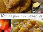 Roti porc nectarines