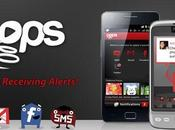 Recevez notifications SMS, emails, tweets publications facebook autrement avec Pops [Android App]