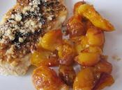 Suprêmes pintade(ou poulet) fruits secs fondue mirabelles
