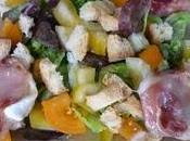 Salade composée ballotins chèvre
