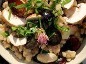 Salade d'orge raisins champignons