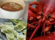 Ravioles Romans bisque homard safran