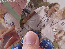 autocollants cartes postales pour promouvoir football féminin