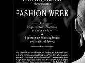 Concours Photo Studio Couturière célèbre Fashion Week