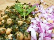 Salade pois chiche menthe