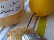 Confiture poires citron confit