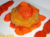 Médaillon Lotte sauce chorizo poivron rouge