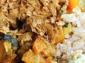 Légumes d'automne boulgour sarrasin tofu fumé