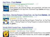 Filtrer résultats recherche Google application
