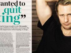 "Alexander Skarsgard pour magazine ""Heat"""