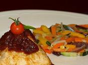 Pyramide Tofu soyeux chutney tomates cerises