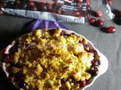 Crumble Noël pommes cranberries