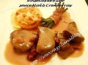 Noisettes Biche, sauce miel Cranberries