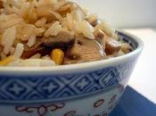 végétarien tofu, champignons maïs