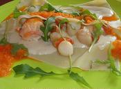 Lasagne langouste saint jacques coulis poivron bechamel parmesan