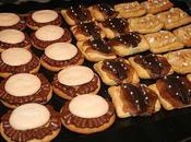 Tartelette sablee chocolat lait pomme caramelisee meringue noisette