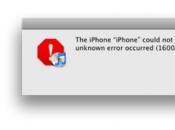 TUTO: Résoudre l'erreur 1600 d'iTunes