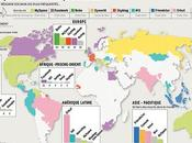 carte réseaux sociaux populaires monde