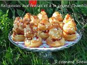 Religieuses fraises crème Chantilly