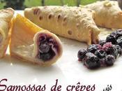 Samossas crêpes cassis