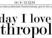 Today love Anthropologie!
