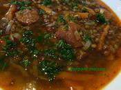 Soupe lentilles chorizo