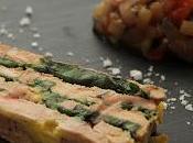 Marbré foie gras basilic ,confiture ratatouille