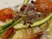 Méli-mélo d'asperges, crabe crevettes, vinaigre mandarine