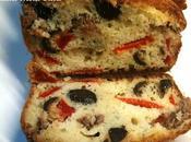 recette Cake anchois olives noires poivrons rouges