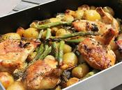 plat bien convivial poulet roti blanc pommes terre nouvelles asperges vertes citron