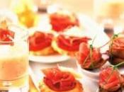 Tapas jambon cru, tomate chèvre